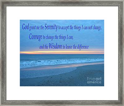 Serenity Prayer-1 Framed Print