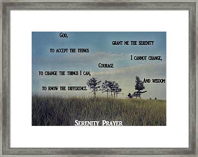 Serenity Prayer Field Framed Print by Dan Sproul