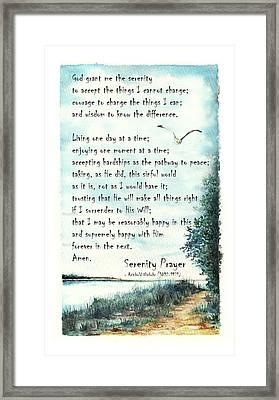 Serenity Prayer The Full Version Framed Print