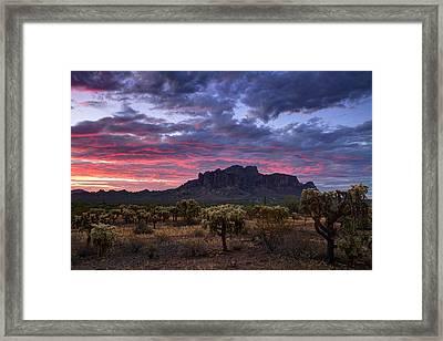 Serenity Sunrise At The Supes  Framed Print