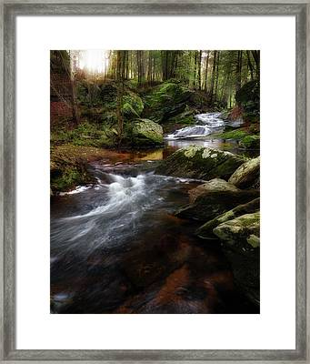 Framed Print featuring the photograph Serenity Sunrise by Bill Wakeley