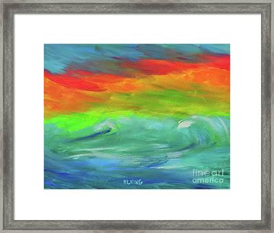 Serenity Sunrise  Framed Print