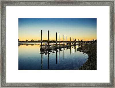 Serenity Sunset Kings Park New York Framed Print