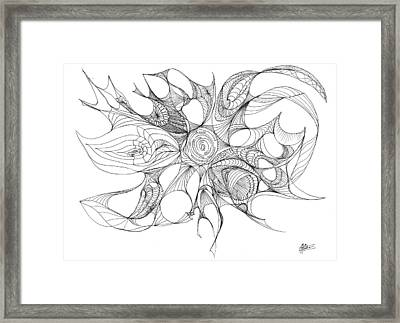 Serenity Swirled Framed Print