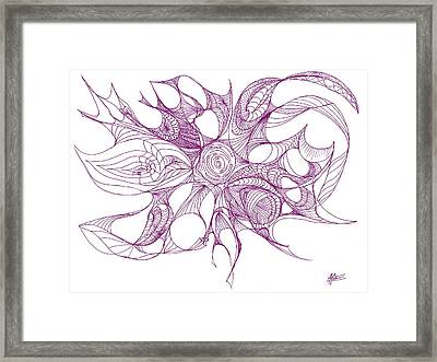 Serenity Swirled In Purple Framed Print
