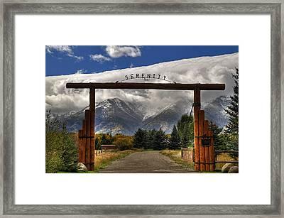 Serenity Too Framed Print