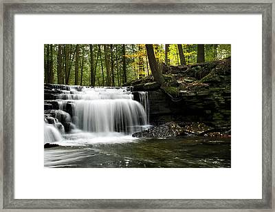 Framed Print featuring the photograph Serenity Waterfalls Landscape by Christina Rollo