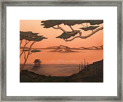 Serenity's Eve Framed Print by Shelby Kube