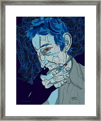 Serge Gainsbourg Framed Print by Suzanne Gee