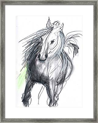 Framed Print featuring the mixed media Sergei by Carolyn Weltman