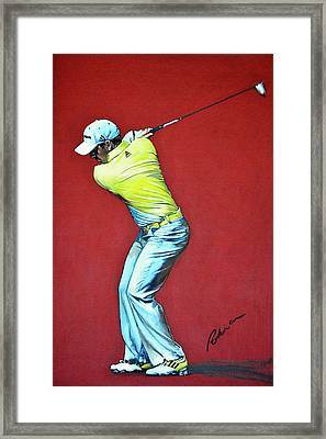 Sergio Garcia By Mark Robinson Framed Print by Mark Robinson