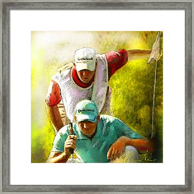 Sergio Garcia In The Madrid Masters Framed Print by Miki De Goodaboom