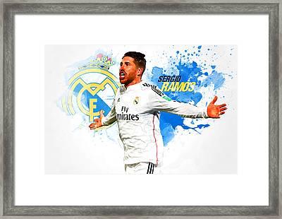 Sergio Ramos Framed Print by Semih Yurdabak