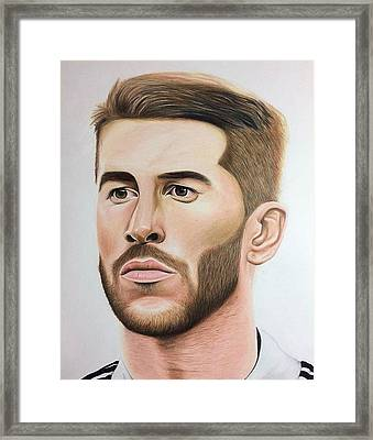 Sergio Ramos Framed Print by William Hernandez