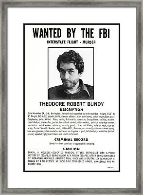 Serial Killer Ted Bundy Framed Print
