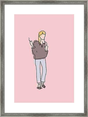 Series Pink 003 Framed Print