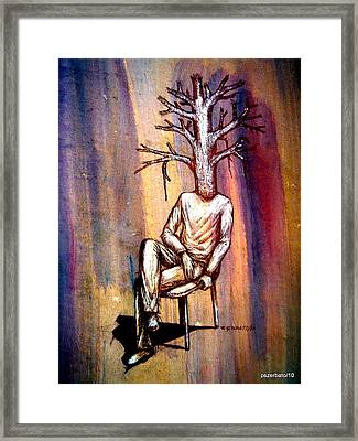 Series Trees Drought 2 Framed Print