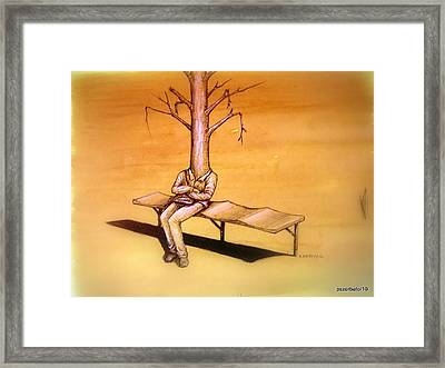 Series Trees Drought 4 Framed Print by Paulo Zerbato