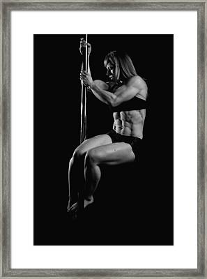 Serious About Abs Framed Print