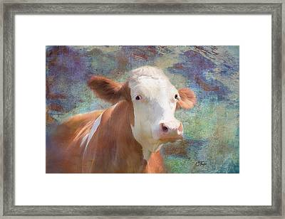 Framed Print featuring the mixed media Serious Business by Colleen Taylor