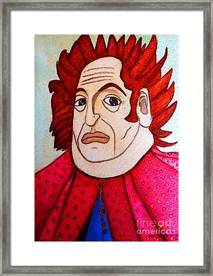 Framed Print featuring the painting Serious Cardinal by Don Pedro De Gracia