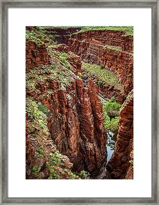 Serious Crags Framed Print