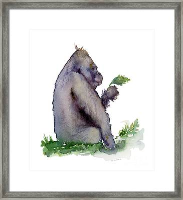 Seriously Speaking Framed Print by Amy Kirkpatrick