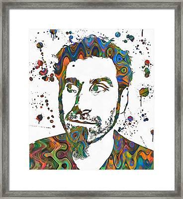 Serj Tankian Paint Splatter Framed Print