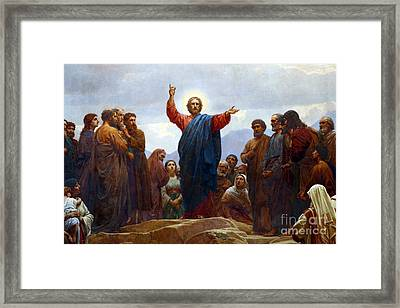 Sermon On The Mount Framed Print by Celestial Images
