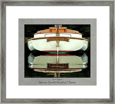 Serna, South Bristol, Maine  Framed Print by Dave Higgins
