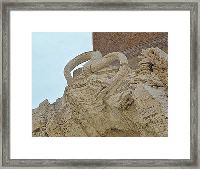 Serpent On The Fountain Framed Print by JAMART Photography