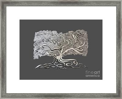 Serpent Tree Framed Print by Clockey