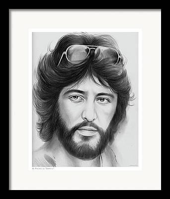 Al Pacino Drawings Framed Prints