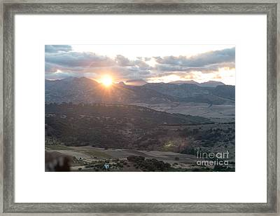 Serrania De Ronda Sunset Framed Print by Rod Jones