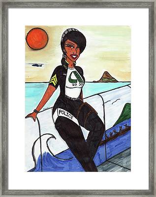 Serve And Protect Hawaiian Style 4-1 Aiea Pride Framed Print