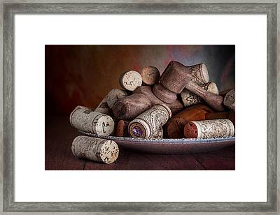 Served - Wine Taps And Corks Framed Print