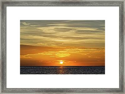 Service Club Park Beach Sunset  -  Svcpkss56 Framed Print