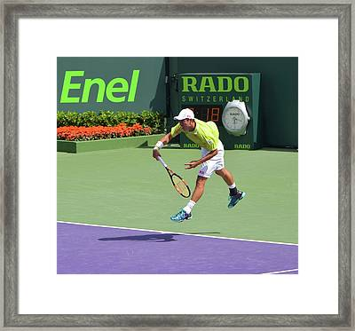 Service Follow Through Framed Print by Richard Pross