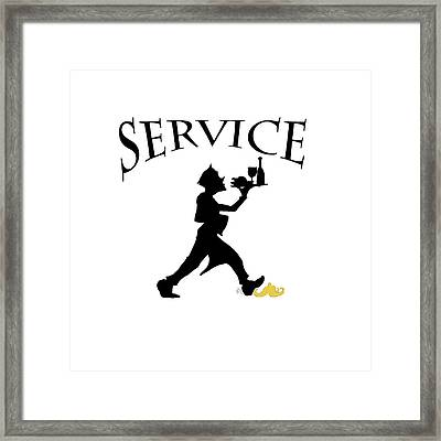Service Framed Print