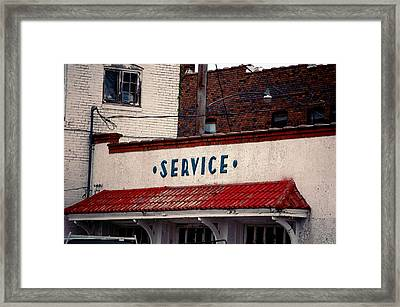 Service Framed Print by Jame Hayes