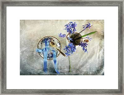 Serving You Blue Framed Print by Randi Grace Nilsberg