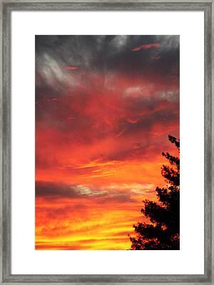 Desert Sunburst Framed Print