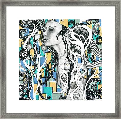 Seshat. The Whisperer Of Sycamore Framed Print by Ala Leresteux