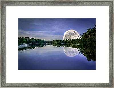 Sesqui Supermoon Framed Print by Rob Sellers