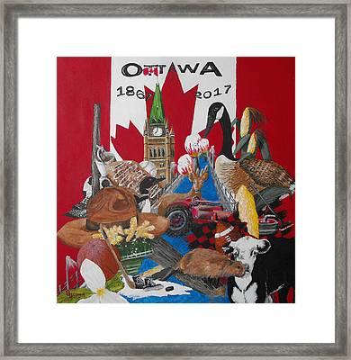 Sesquicentennial Ottawa Framed Print