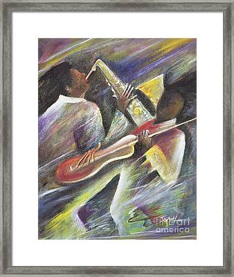 Session Framed Print by Ikahl Beckford