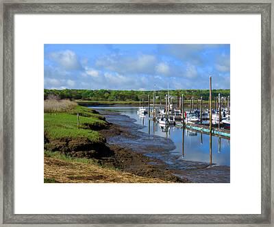 Sesuit Harbor In Spring Framed Print by Dianne Cowen