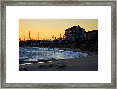 Sesuit Harbor Sunrise - Cape Cod Framed Print by Dianne Cowen