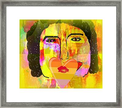 Set Apart And Get To Know Her For Yourself Framed Print by Fania Simon