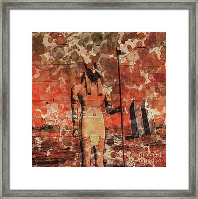 Set, Egyptian God By Raphael Terra And Mary Bassett Framed Print